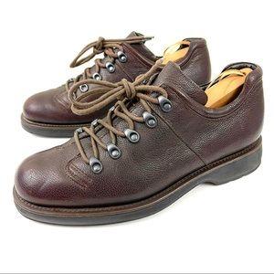 Giorgio Armani Leather Lace-up Hiking Shoes